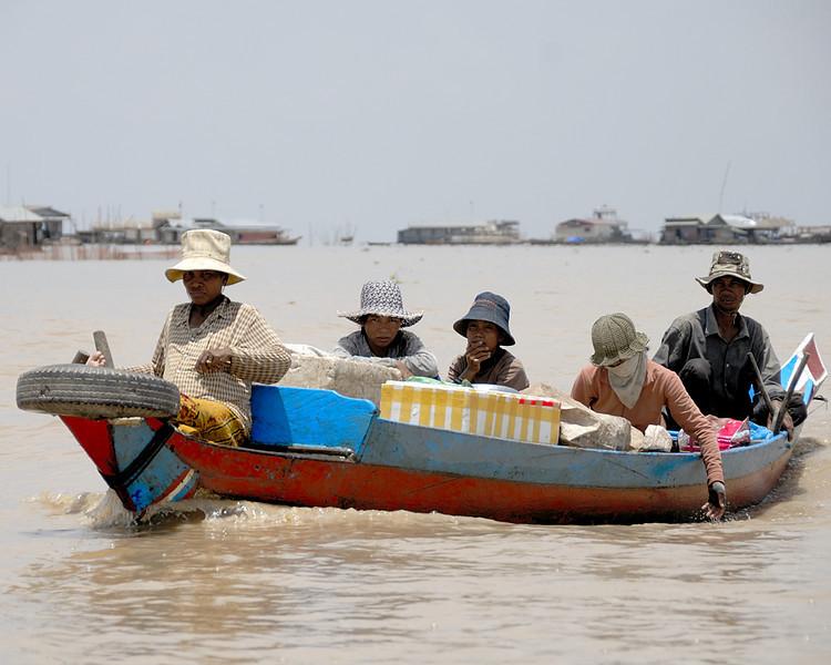 Tonle Sap family, Cambodia.
