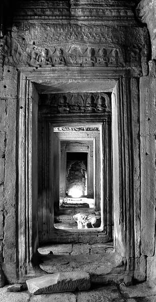 Eternity.  Hallway at Bayon Temple, Angkor, Cambodia.
