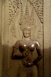 Angkor Wat stone carving detail, Cambodia