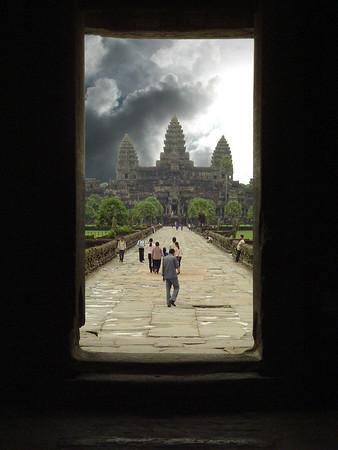 Angkor Wat doorway, composite, Cambodia