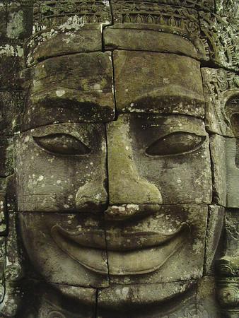 Bayon Stone Buddha head, Cambodia