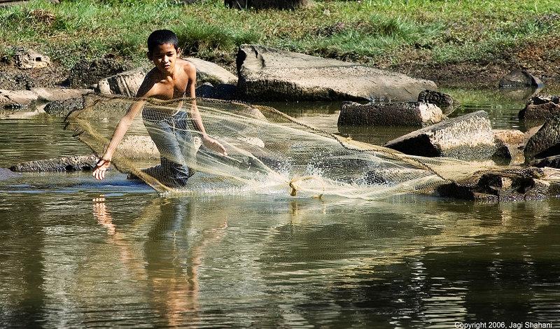 Angkor Thom fisherman