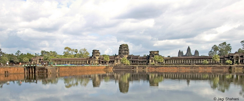 Angkor Wat Temple moat and outer walls