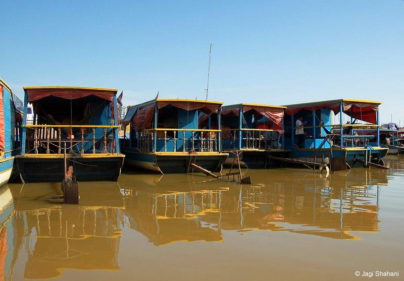 House boats on Tonle Sap lake