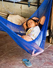 Sleeping in Hammock at Market in Siem Reap