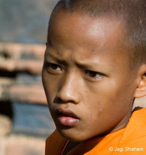 Novice at Banteay Srei Temple