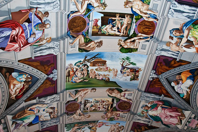 Cistine Chapel ceiling reproduction at English Martyrs Church, Goring.