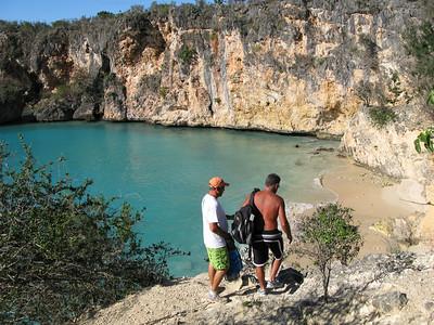 Little Bay cove, Anguilla Feb 15, 2009 ready for descent!
