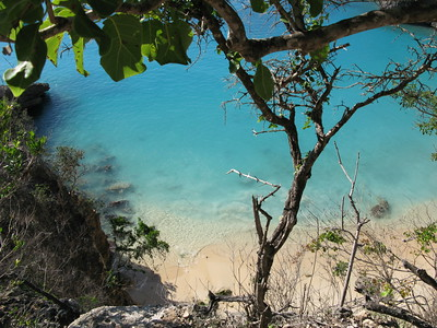 Little Bay cove, Anguilla Feb 15, 2009 the view from above