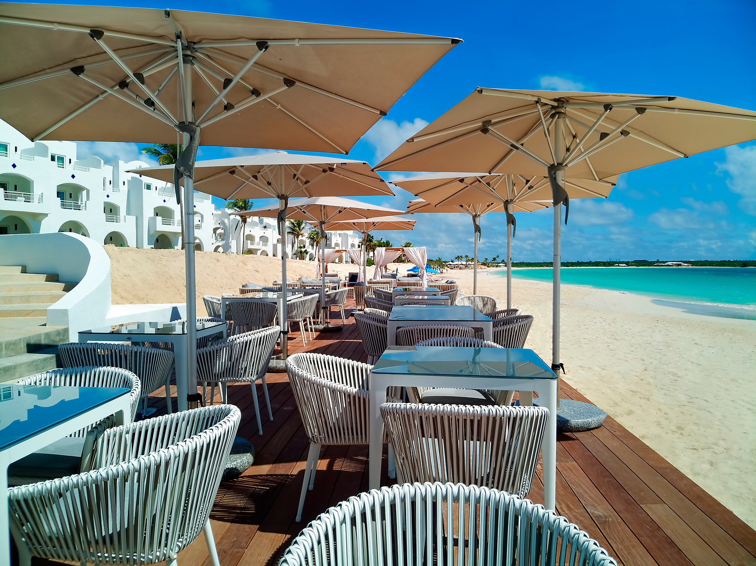 The Beach Bar at Cuisinart in Anguilla, Caribbean.