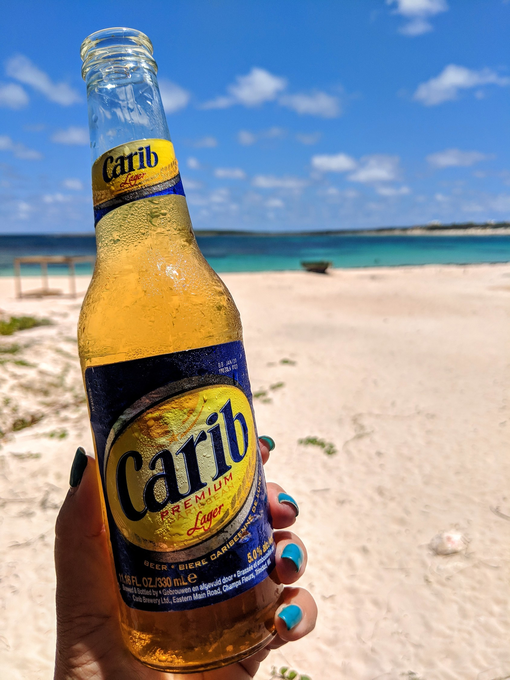 Carib beer in Anguilla is a common drink found in the Caribbean.