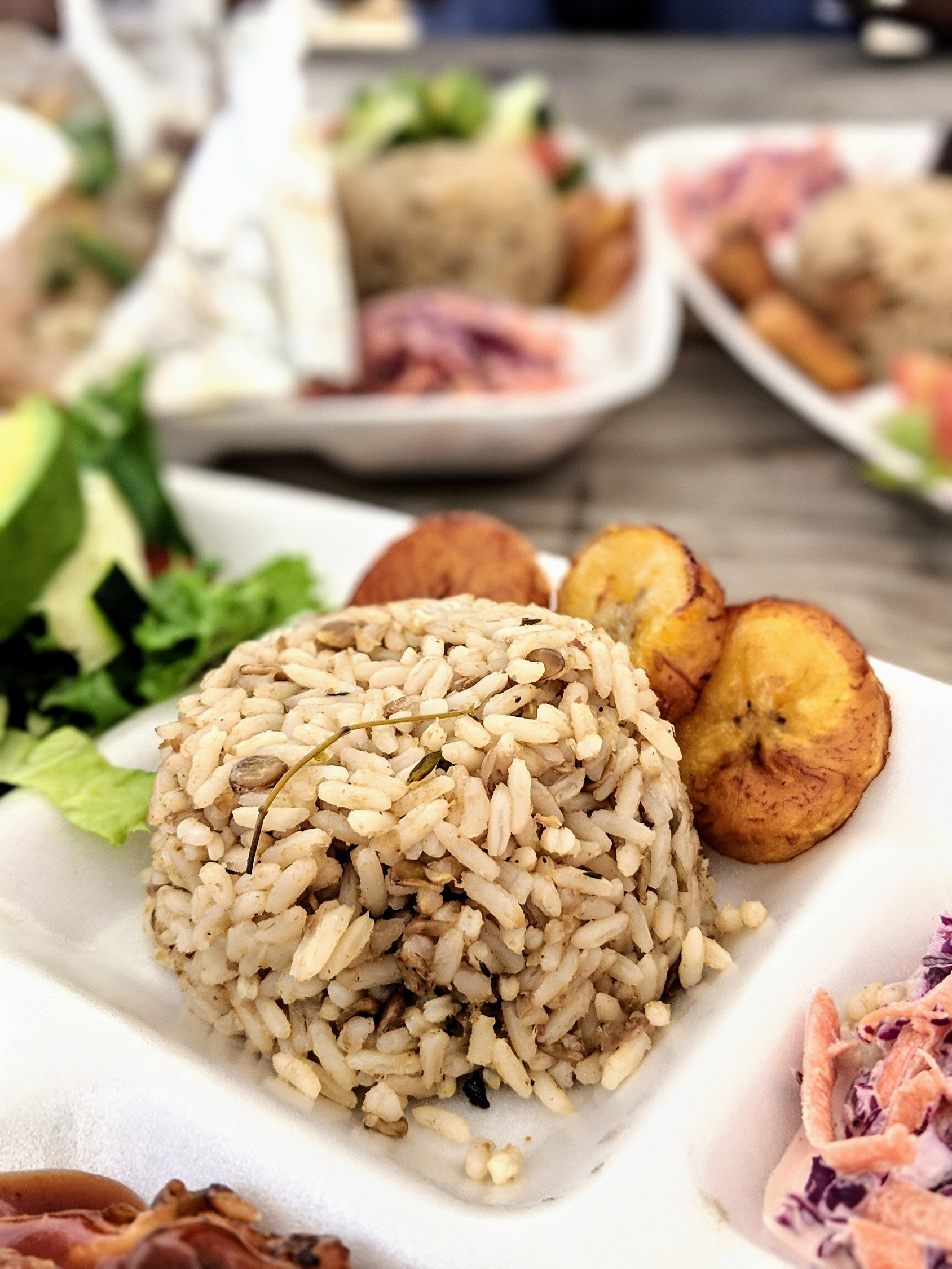 Pigeon peas and rice in Anguilla - the country's national dish and most beloved Anguilla food.