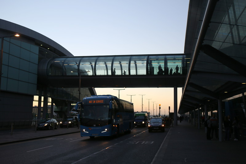 Dublin Airport early morning on Day 10 (including travel days)