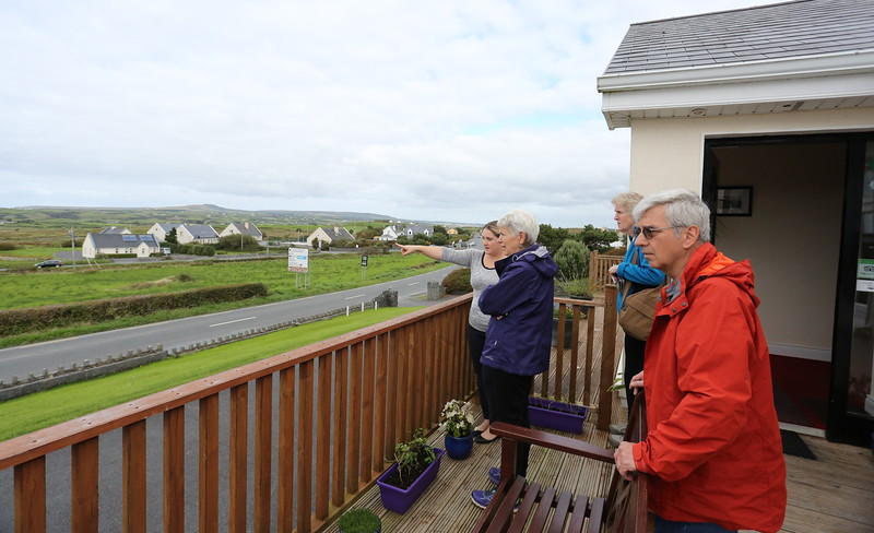 We will hike into Doolin across the countryside this evening - before dark