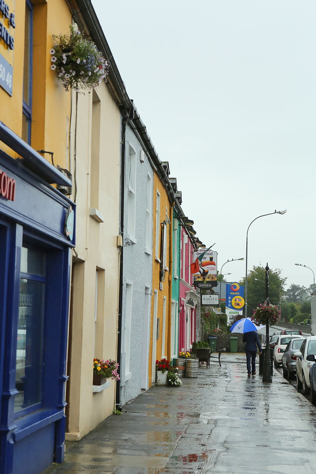 Colorful homes and businesses line Adare's main streets