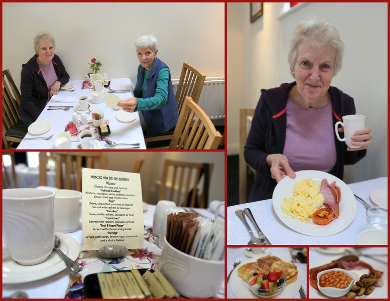 Hearty breakfast choices at Harbour View B & B