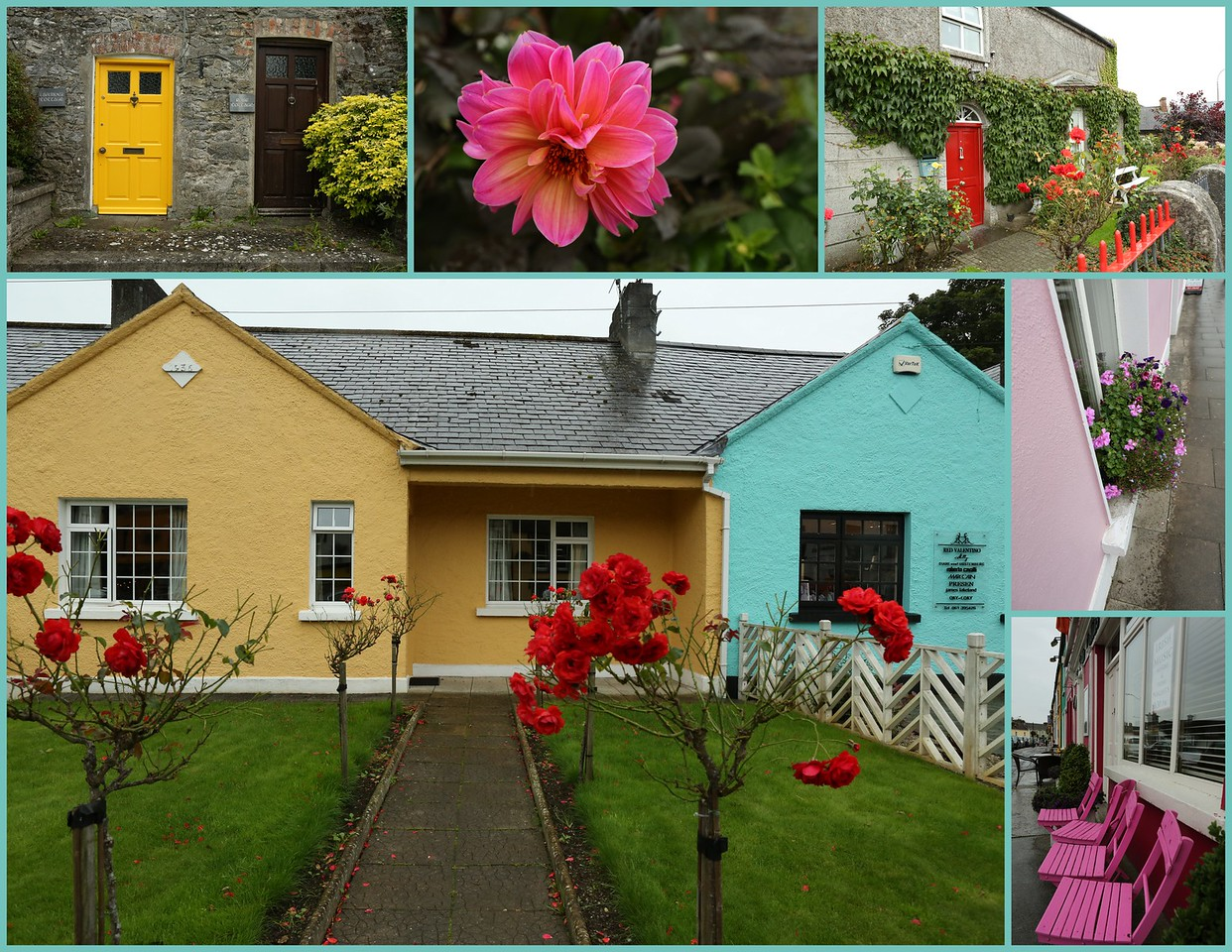 Colorful homes & gardens in the village of Adare.