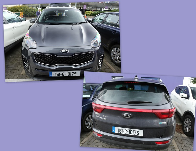 Here's our trusty Kia without a scratch.