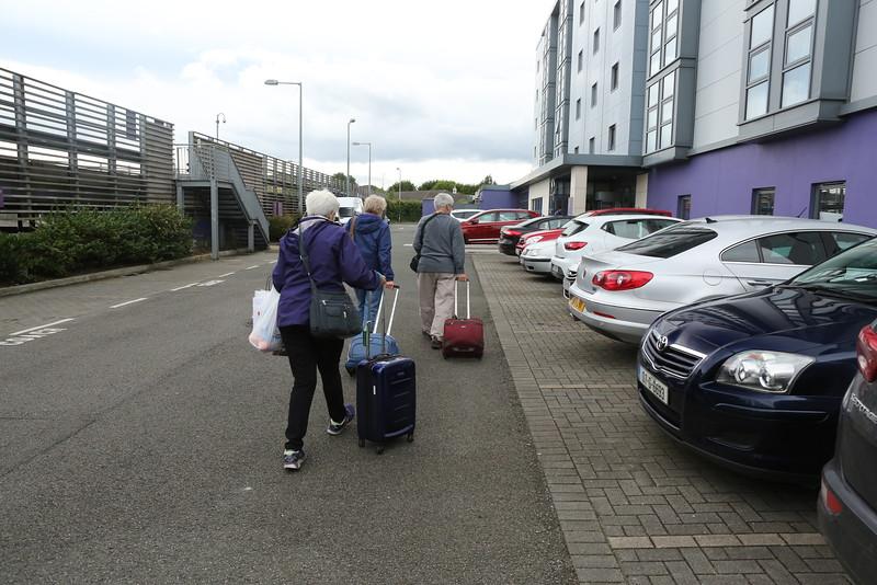 Heading to the Dublin Airport via Rental car