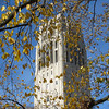 I walked around the central campus on a beautiful autumn afternoon.  This is Burton Tower.