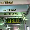 The tunnel leading to the field.  If you are a Wolverine fan, the quotation on the ceiling needs no explanation.