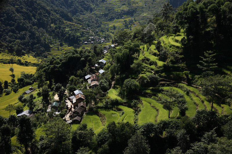 10 Terraced fields, village