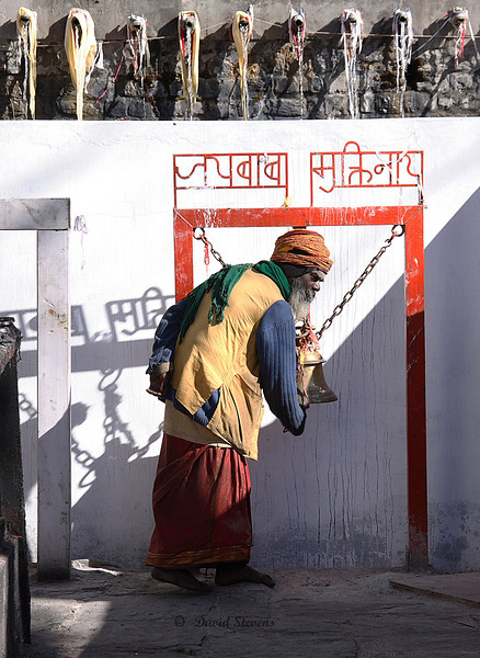 42 Hindu temple bell ringer