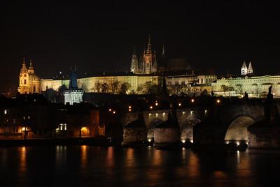 Prague Night Scene Near Water 32
