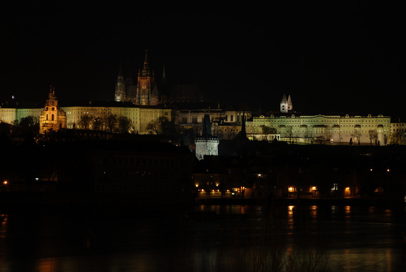 Prague Night Scene Near Water 24