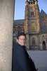 Tony and Prague Castle Cathedral 5