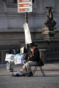 Great Old Town Prague Musician 2