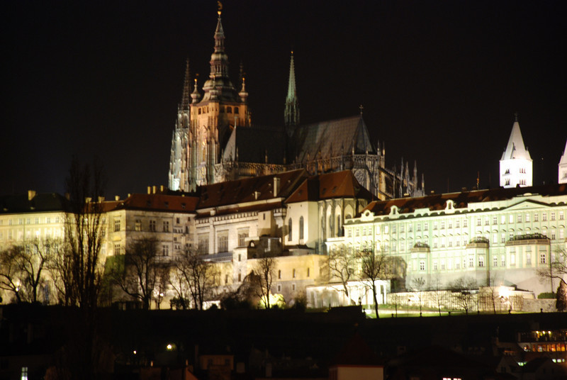 Prague Night Scene Near Water 21