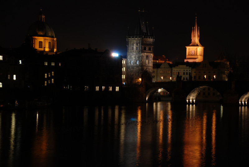 Prague Night Scene Near Water 7