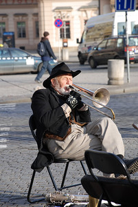 Great Old Town Prague Musician 9
