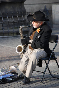 Great Old Town Prague Musician 5