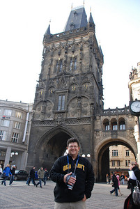 Tony By a Prague Tower 1