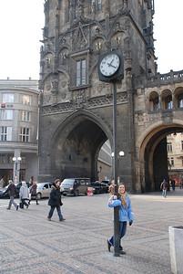 Anna By a Prague Tower 2