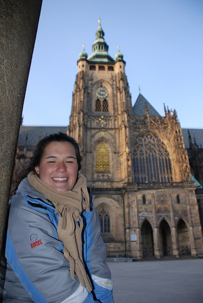 Anna and Prague Castle Cathedral 2