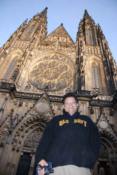 Tony and Prague Castle Cathedral 2