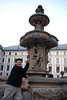 Tony and Prague Castle Fountain 2