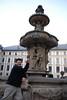 Tony and Prague Castle Fountain 2