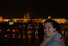 Anna near the Water at night in Prague 2