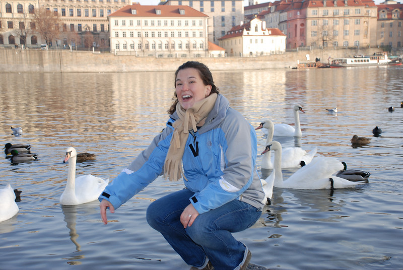 Anna and Swans in Prague 18