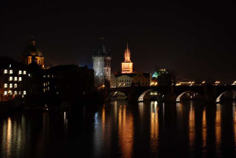 Prague Night Scene Near Water 16