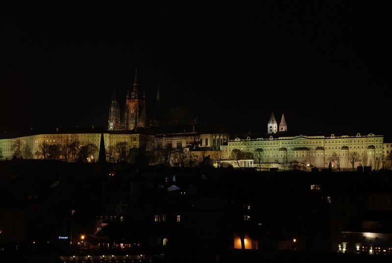Prague Night Scene Near Water 34