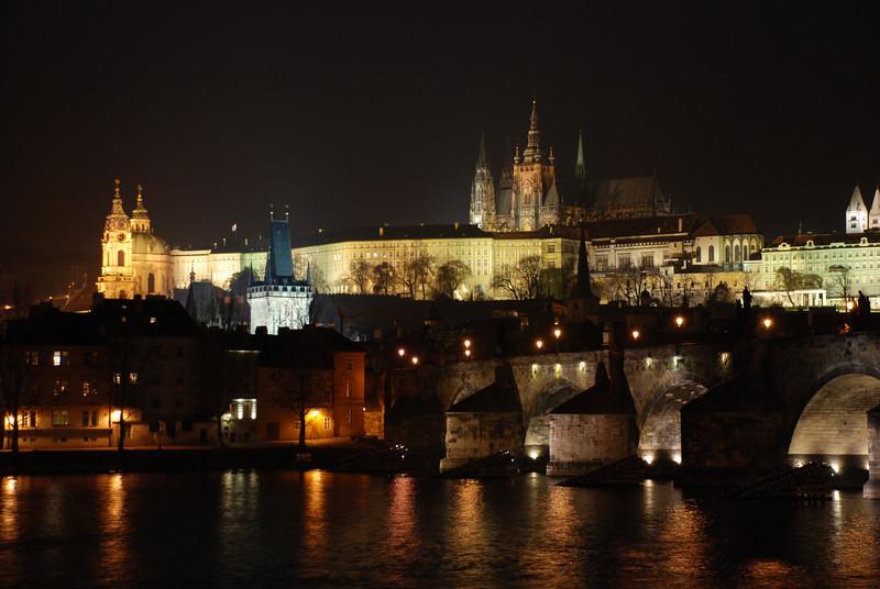 Prague Night Scene Near Water 33