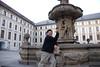 Tony and Prague Castle Fountain 3