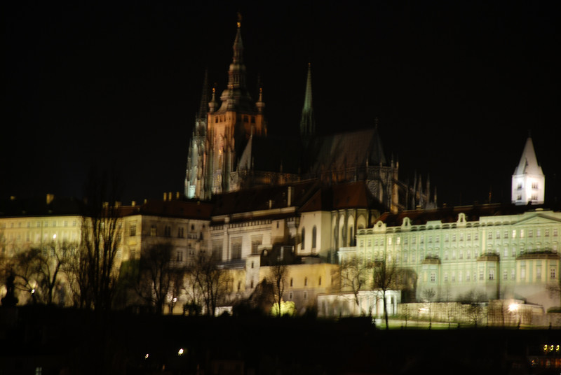 Prague Night Scene Near Water 19