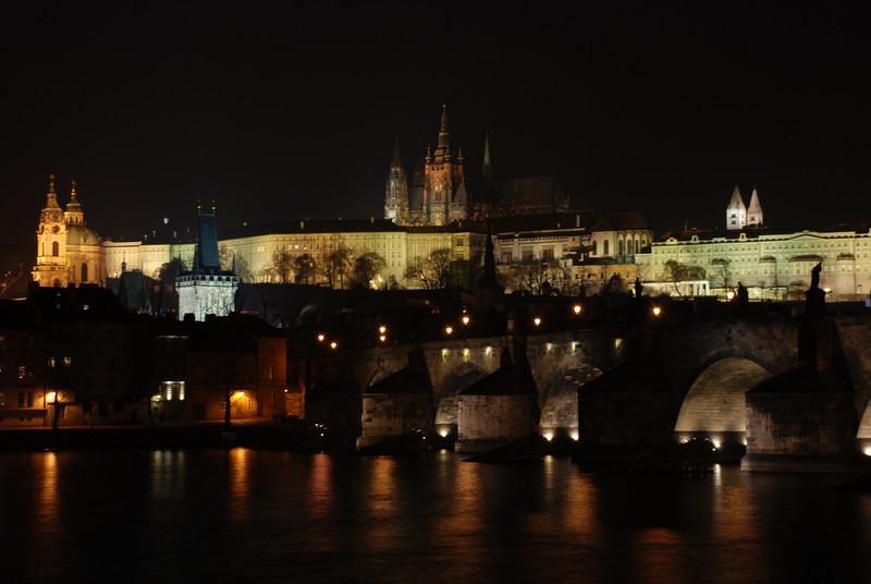 Prague Night Scene Near Water 31