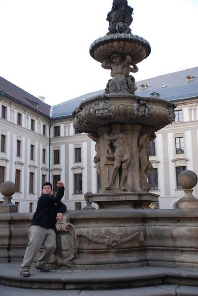 Tony and Prague Castle Fountain 1